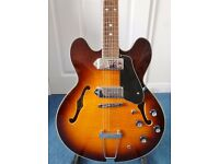 Xaviere XV-910 semi-hollow electric guitar with soft case