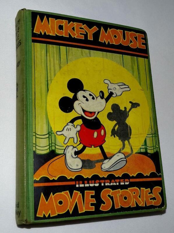 "DISNEY 1931 ""MICKEY MOUSE MOVIE STORIES"" HARDCOVER BOOK-DAVID McKAY-EX./VF 8.0"