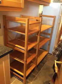 Ikea pine shelving unit