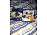PS4 Shadow of Mordor and Overwatch