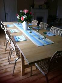 10 seater table and chairs