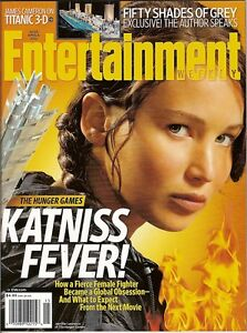 Entertainment Weekly, HUNGER GAMES,Jennifer Lawrence,Katniss,April 6,2012~NEW