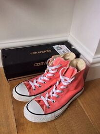 Pink Converse All Stars (Size 5) with box