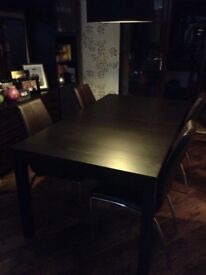 IKEA Black Brown Dining Table