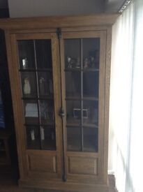 Next solid oak bookcase and coffee table