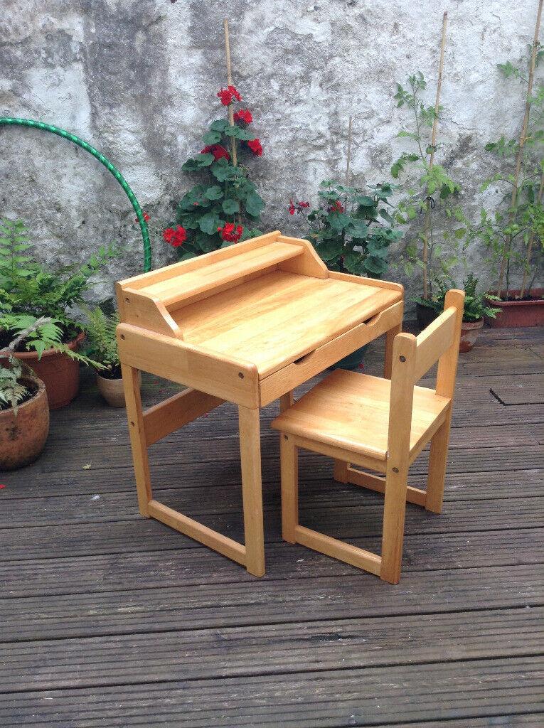 Childs Wooden Chair And Desk In Totnes Devon Gumtree