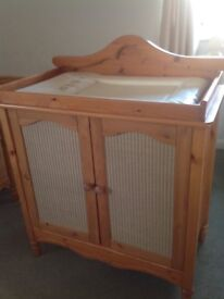 Beautiful Pine Cotbed & Changing Unit for sale
