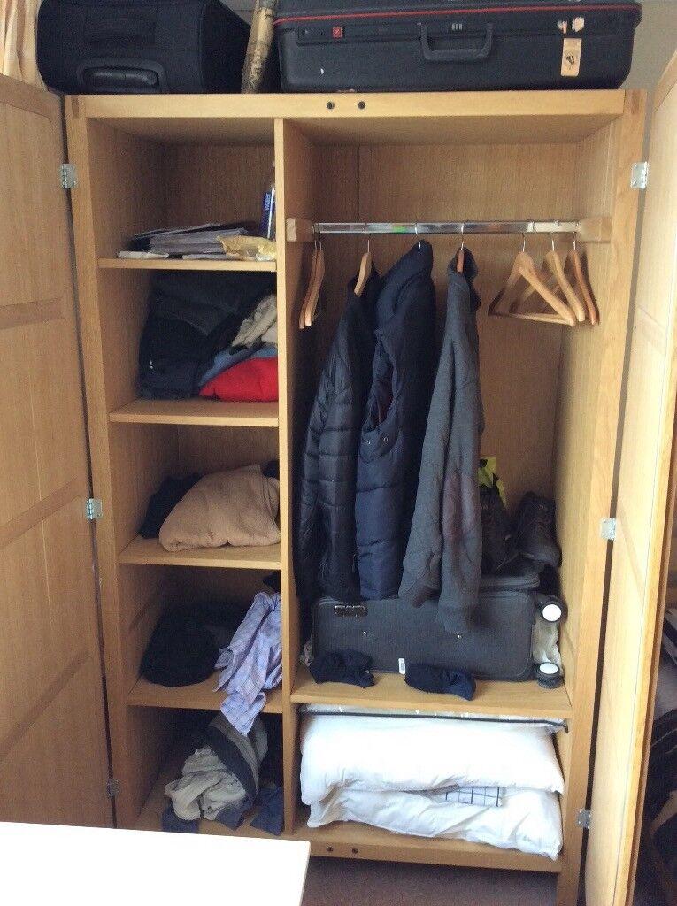 Habitat Wardrobe In Solid Oak Cost 700
