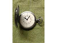 Hunter Braille Swiss movement 17 Jewel pocket watch