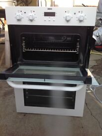 Zanussi integrated (built in) electric double oven.