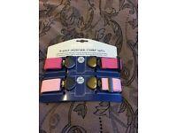 Jojo Maman Bebe adjustable toddler belts, 2 pack pink belts