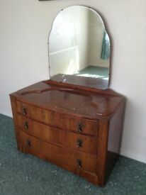 1950's dressing table and wardrobe.