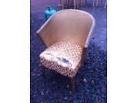 Lloyd loom style half tub chair by Sirrom