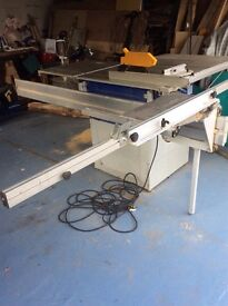 ELektra Beckum Table Saw. Single Phase. Perfect Working Order. Fold down tables for easy storage.