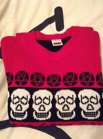 Slayer Christmas Jumper/Sweater Men's size L