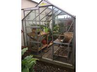 Halls Aliminium Greenhouse