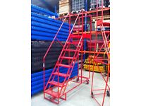 COMMERCIAL HEAVY DUTY STEEL WAREHOUSE MOBILE RACKING STAIRS STEPS LADDER