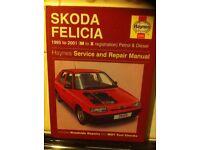 Haynes Manual For Skoda Felicia 95-01
