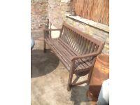 Solid wood heavy garden bench, £20