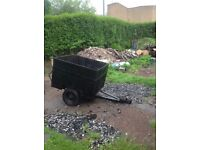 Small lightweight trailer suitable for camping or garden rubbish