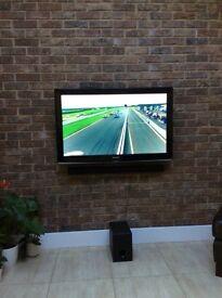 Samsung 42 inch TV and Sony Sound Bar