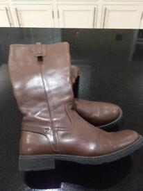 Geox brown boots - size 39.