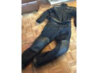 Motorbike protective jacket and trousers