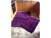 Purple medium rug