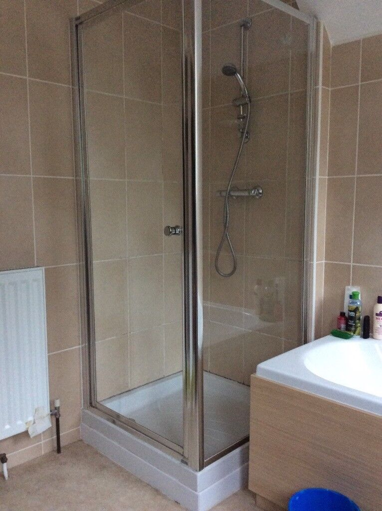2 sided shower cubicle plus tray 800mm x 800mm | in Long Ashton ...