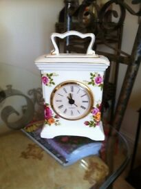 Small bone china carriage clock