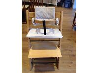 Tripp trapp high chair with baby set great condition