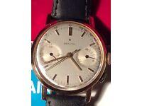 Solid 18carat gold zenith chronograph 146D movement and original black strap