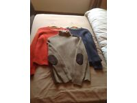 MENS JUMPERS AND CARDIGANS.SIZE MEDIUM.IDEAL FOR WORK.