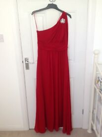 Two lovely full length occasion dresses. Both size 12-14. Very good condition