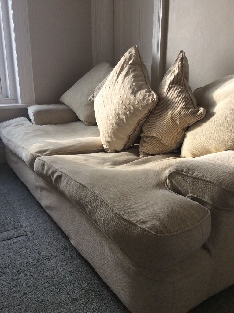 Large extremely comfortable sofa and armchair. Covers are all fully washable. No stains or wearing