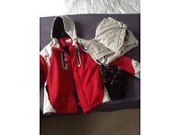 Ladies full ski set! jacket, trousers -size XL -12-14, gloves, socks, hat
