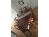 6 Dining chairs with free table