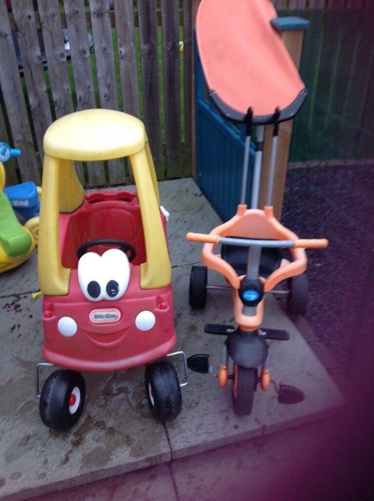 Little Tike car and Trike