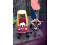 Little Tike car and Trike