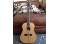 Freshman FA1 Trav Ltd Maple Ridge acoustic travel guitar with pickup.