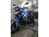 Yamaha Mt09 street rally in dream machine Rossi colours