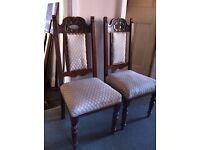 4 Antique Chairs for Refurbishment / Can Deliver