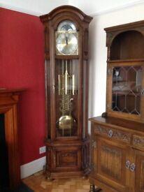 A 'Richard Broad' Long Case Oak Clock