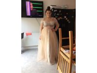 Prom /Evening/Occassional Dress, Champagne Colour, Side 20