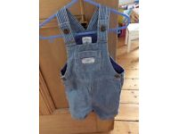 Baby joules dungarees & t shirt 9-12 mths