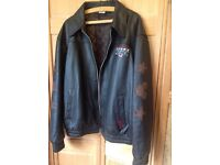 USA. Mickey Brown Leather Jacket..Casual/Motorbike/Scooter...with padded lining