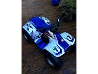 Suzuki lt 50 quad complete with brand new mx kit and helmet