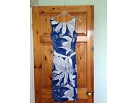 Beautiful coast summer dress in blue and white