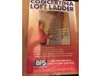 Concertina steel loft ladder