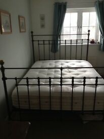 Iron bedstead, king size
